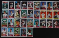 1989 Topps Boston Red Sox Team Set of 37 Baseball Cards With Traded #BostonRedSox
