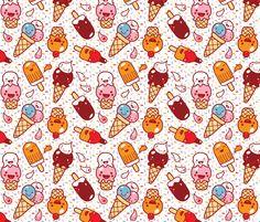Ice cream :) fabric by bora on Spoonflower - custom fabric