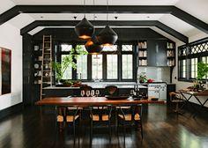 31 Black Kitchen Ideas for the Bold, Modern Home - http://freshome.com/black-kitchen-ideas/