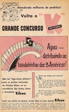 Propaganda dos anos 60 dos Pirulitos Kibon onde é apresentado um concurso que…