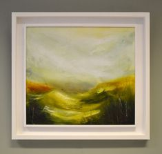 Acrylic and mixed media on canvas in a white wood St Ives frame. [caption align=alignnone Rain Over Littondale[/caption] St Ives, Mixed Media Canvas, White Wood, Landscapes, Rain, Artist, Image, Painting, Paisajes