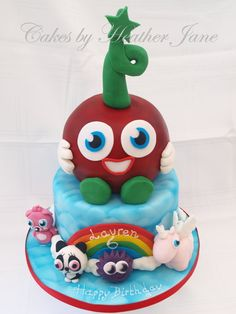 Mega Moshi - by CakesbyHeatherJane @ CakesDecor.com - cake decorating website
