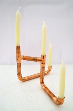 Kerzenständer aus Kupferrohr