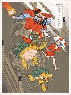 Ukiyo Mario Kart