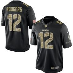 Nike Aaron Rodgers Green Bay Packers Salute To Service Football Jersey