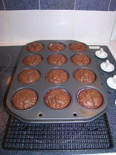 A recipe for Low-Carb Chocolate Cupcakes with Creamy Frosting from cdkitchen.com