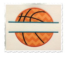 Split Basketball Applique Machine by RivermillEmbroidery on Etsy, $2.95