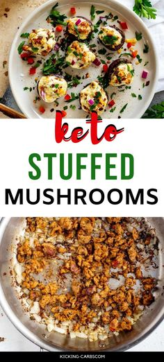 Anytime I can entertain without a lot of effort I am ecstatic. Low Carb Keto Stuffed Mushrooms with sausage is one of my go-to appetizers.  #wendypolisi #glutenfreerecipes #healthyglutenfree #mushrooms #ketoappetizers