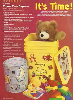 Learn how to make a Time Capsule from a detergent container or a paint can.