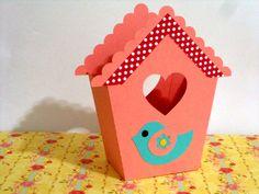 cachepô casa de passarinho
