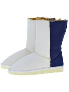 Scuba Neoprene Fabric Everest Air winter boots. Model style: Neo-White/Navy Gaga