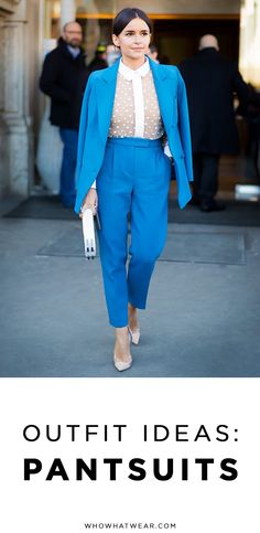 How you can look cool in a pantsuit now.