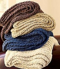 Copycat Pottery Barn Chunky Textured Throws By Maryann Designs - Purchased Knitting Pattern - (ravelry)