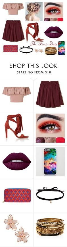 """First Date"" by lila2402 ❤ liked on Polyvore featuring Miss Selfridge, Hollister Co., Chloé, Lime Crime, Liberty, Joomi Lim, NAKAMOL and Amrita Singh"