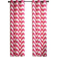 Add a pop of pattern to any space with this chevron-print curtain, showcasing a pink hue for bright style.Product: Curtain panel