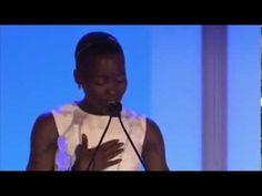 Oscar Winner Lupita Nyong'o Speech on Black Beauty Essence Black Women In Hollywood Award #womensday - YouTube