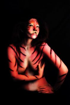tiger body paint