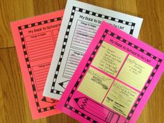 Fabulous in Fifth!: Back to Do List for Sticky Notes
