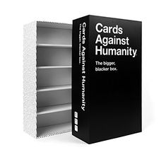 Cards Against Humanity: The Bigger, Blacker Box    Cards Against Humanity is a party game for horrible people. Originally intended as a New Year's Eve party game created by a group of friends, the game features politically incorrect humor that is designed to both delight and offend anyone and everyone equally.