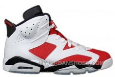 fc492233493e Authentic 384664-160 Air Jordan 6 Retro White Carmine-Black Grade School s  Shoe