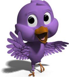 Adorable little purple bird.