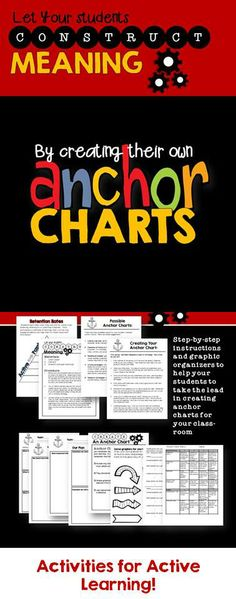 Activities for Active Learning--let your students take the lead in creating anchor charts for the classroom.
