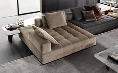 Combine different elements to create a unique space with the modular Minotti Lawrence Seating System. Living Room Sofa Design, Living Room Interior, Home Living Room, Home Interior Design, Living Room Designs, Living Room Decor, Sofa Furniture, Furniture Design, Modern Sofa Designs