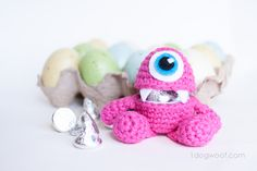 Ravelry: Monster Easter Egg Amigurumi with Open Mouth pattern by ChiWei Ranck Easter Egg Pattern, Easter Crochet Patterns, Amigurumi Patterns, Crochet For Easter, Knit Patterns, Holiday Crochet, Crochet Gifts, Crochet Dolls, Crocheted Toys