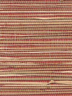 Behang van raffia, ondergrond gebeitst papier, eco (niet meer leverbaar)