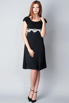 x Черно-белое платье с декором Freequent