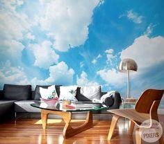 Wall Mural Clouds - inspiration wall mural, interiors gallery• PIXERSIZE.com