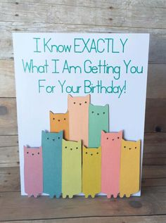 Crazy About Cats Birthday Card by SwordandWhetstone on Etsy https://www.etsy.com/listing/246230080/crazy-about-cats-birthday-card