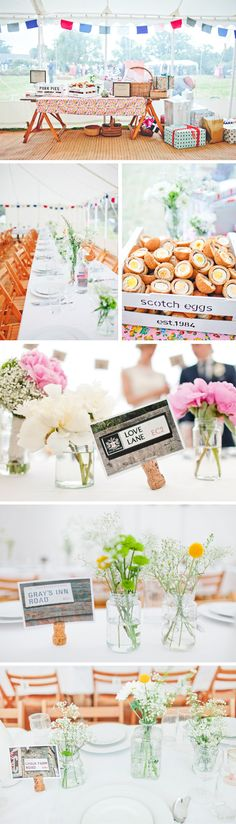 This is one of the best weddings I've ever seen!  So fun, festive, personal, and DIY.