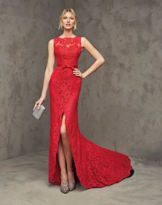 Vestidos de noche rojos corte sirena