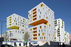 FIRM: BECKMAN N'THÉPÉ; PROJECT: ´EVRY Housing Units; LOCATION: ´Evry, Essone. France. Housing project designed to act as a catalyst of renewed urban identity in this changing neighborhood.