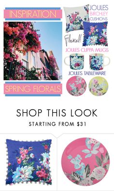 """""""Spring Into Action By Adding Floral Prints To Your Home"""" by latoyacl ❤ liked on Polyvore featuring interior, interiors, interior design, home, home decor, interior decorating and Joules"""