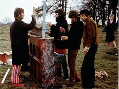 The Beatles filming Strawberry Fields Forever in Knole Park, Sevenoaks on either 30th or 31st January 1967.