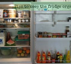 How to organise the contents of your fridge