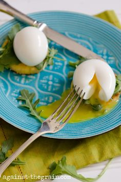 Against The Grain Gluten Free Food Blog » Momofuku 510 Eggs with Crispy Polenta & Arugula