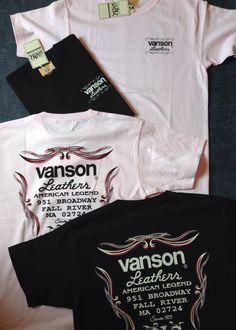 バンソンからピンストライププリントTシャツが入荷しました。本体価格¥4,400