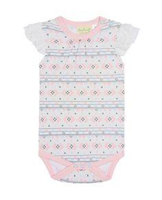 Sapling Child Girls Dusty Pink Long Sleeve Bodysuit 100% Organic Cotton Babywear One-pieces