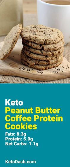 Trying this Peanut Butter Coffee Protein Cookies and it is delicious. What a great keto recipe. #keto #ketorecipes #lowcarb #lowcarbrecipes #healthyeating #healthyrecipes #diabeticfriendly #lowcarbdiet #ketodiet #ketogenicdiet