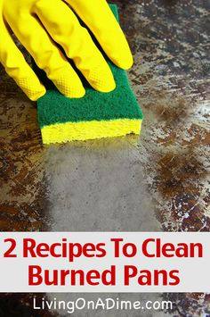 2 Recipes To Clean Burned Pots and Pans That REALLY work!