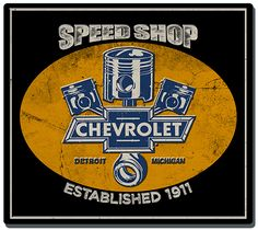Chevrolet Speed Shop Sign