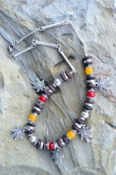Tribal Necklace Natural Agate and Silver Handmade by LKArtChic