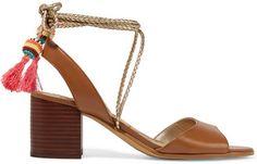Sam Edelman Shani Tasseled Leather Sandals #sandals #summer #heels