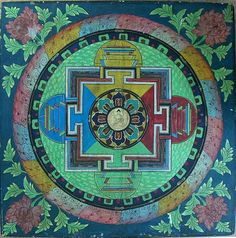 Asian Antiques Popular Brand Tibet Or Nepal Oil On Canvas Buddhist Wheel Painting High Quality And Inexpensive Antiques
