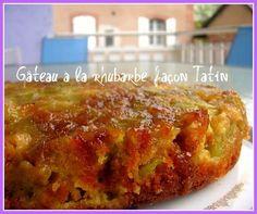 Gâteau à la rhubarbe façon Tatin : la recette facile