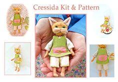 Felt Doll Making Kit Cressida Cat Poseable Ornament via Etsy