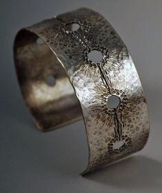 Sterling Silver Chased Cuff Bracelet by bethwicker on Etsy, $200.00